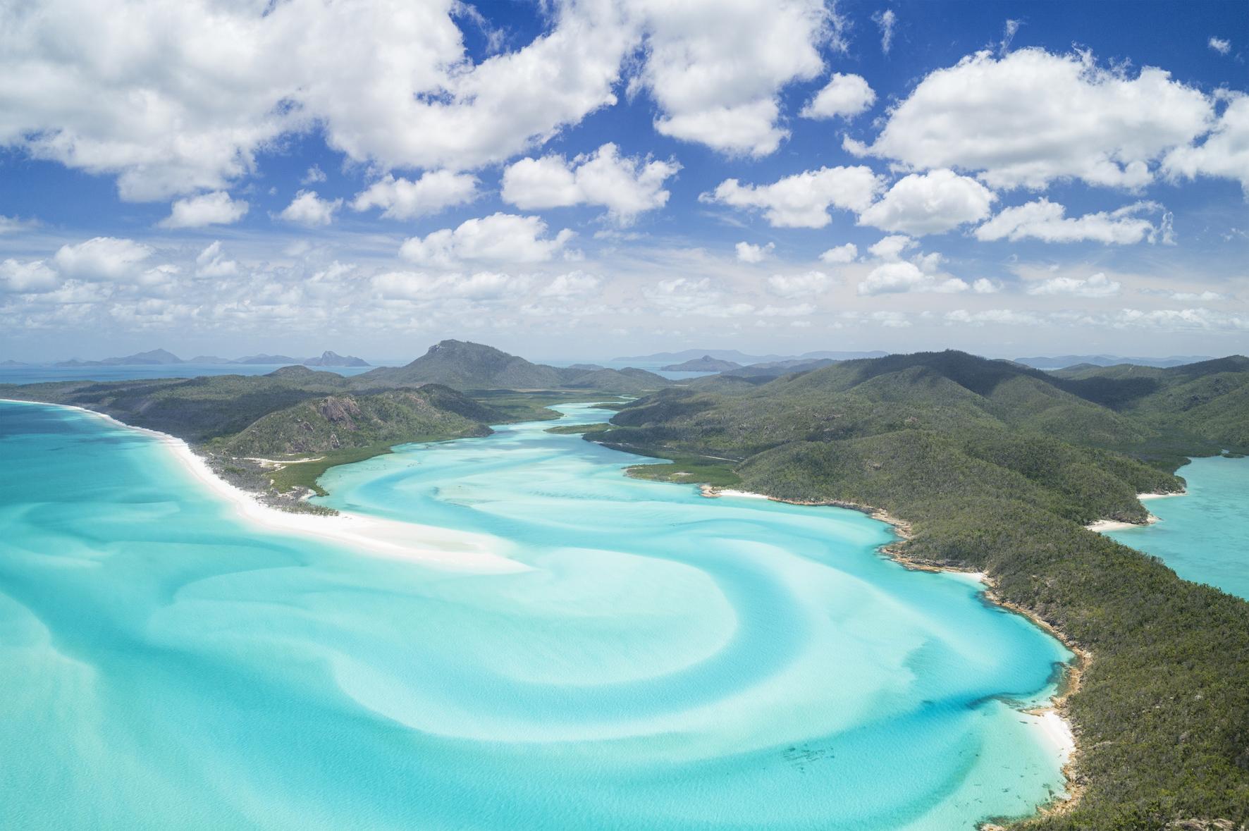 Great Barrier Reef aerial photo wallpaper