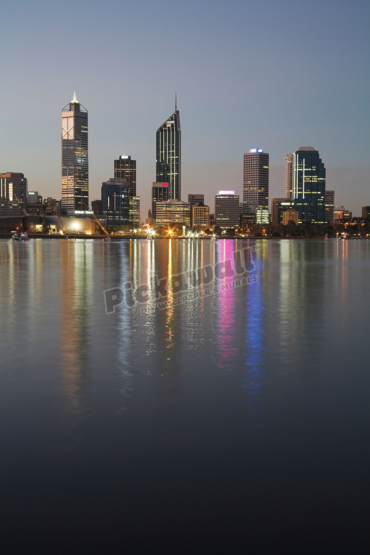 perth skyline from swan river wallpaper