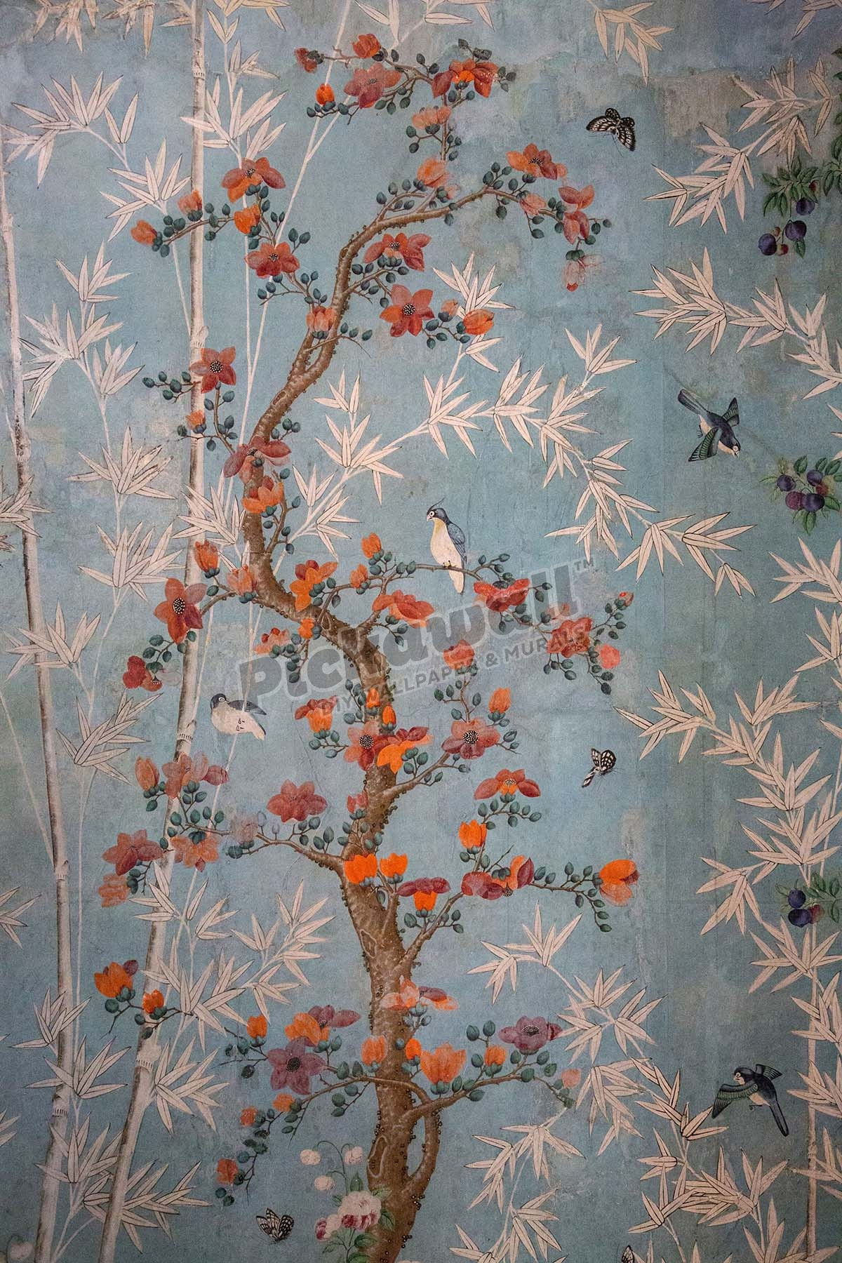18th Century Chinese Floral Wallpaper Design