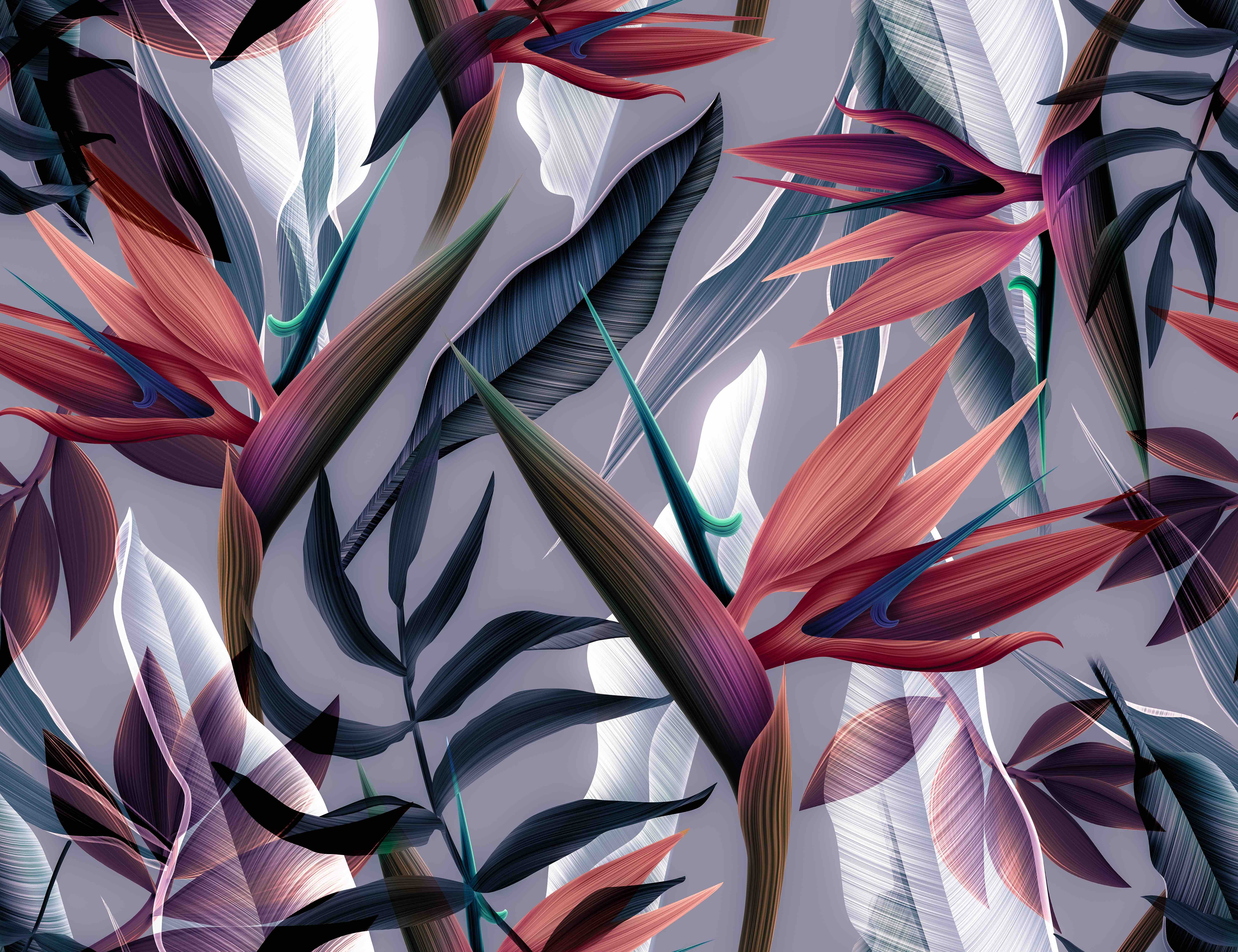 Wallpaper Mural Exotic Garden Theme